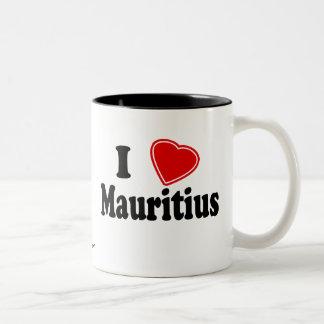 私はマリシャスを愛します ツートーンマグカップ