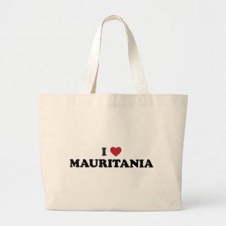 私はマリシャスを愛します ラージトートバッグ