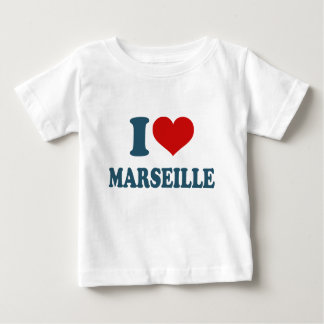 私はマルセーユを愛します ベビーTシャツ