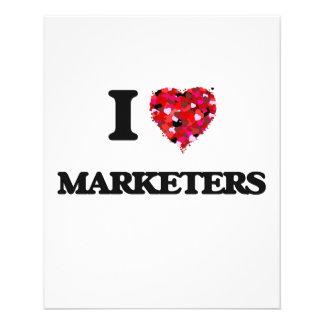 私はマーケティング担当者を愛します 11.4CM X 14.2CM チラシ