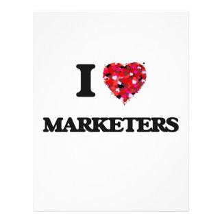 私はマーケティング担当者を愛します 21.6CM X 27.9CM チラシ