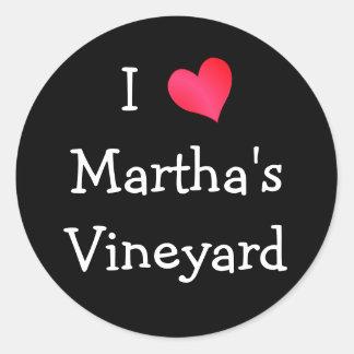 私はマーサのブドウ園を愛します ラウンドシール
