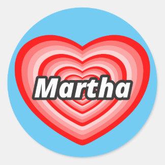 私はマーサを愛します ラウンドシール