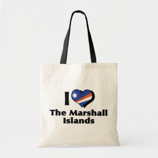 私はマーシャルアイランドの旗を愛します トートバッグ