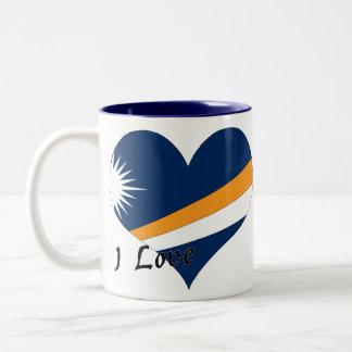 私はマーシャルアイランドを愛します ツートーンマグカップ