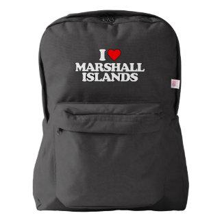 私はマーシャルアイランドを愛します AMERICAN APPAREL™バックパック