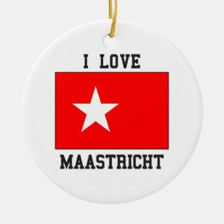 私はマーストリヒトを愛します セラミックオーナメント