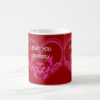 私はミイラのピンクのロマンチックなギフトのマグ愛します コーヒーマグカップ