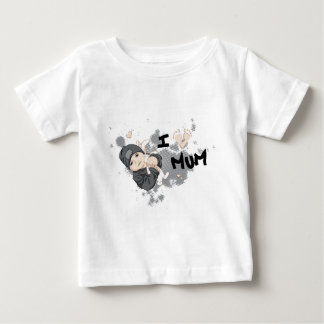 私はミイラ-灰色--を愛します ベビーTシャツ