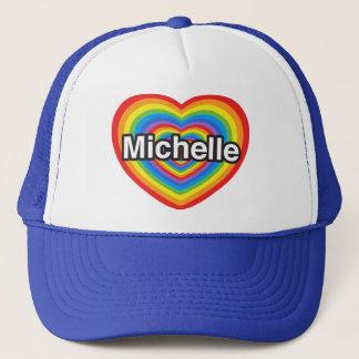 私はミシェールを愛します。 私はミシェール愛します。 ハート キャップ