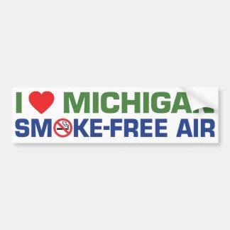 私はミシガン州の禁煙の空気を愛します バンパーステッカー