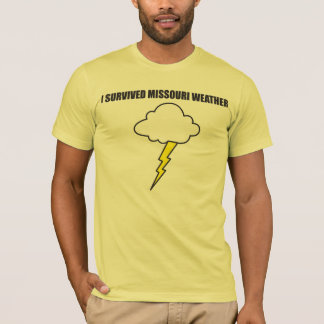 私はミズーリの天候-稲妻--を生き延びました Tシャツ