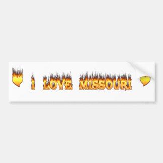 私はミズーリの火および炎を愛します バンパーステッカー