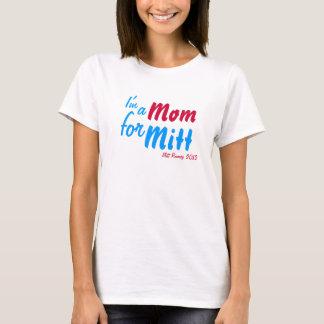 """""""私はミットのためのお母さん""""のRomneyのTシャツです Tシャツ"""