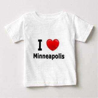 私はミネアポリスを愛します ベビーTシャツ