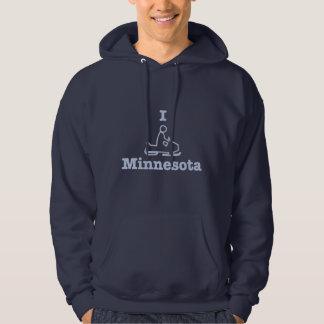私はミネソタをスノーモービルで行きます パーカ