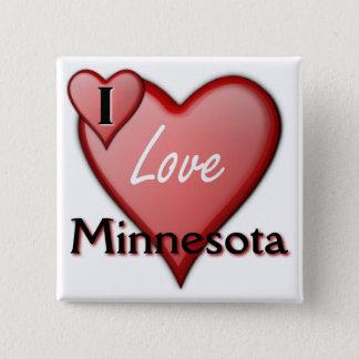 私はミネソタを愛します 5.1CM 正方形バッジ