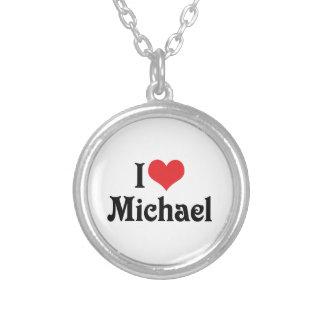 私はミハエルを愛します シルバープレートネックレス