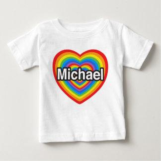 私はミハエルを愛します。 私はミハエル愛します。 ハート ベビーTシャツ
