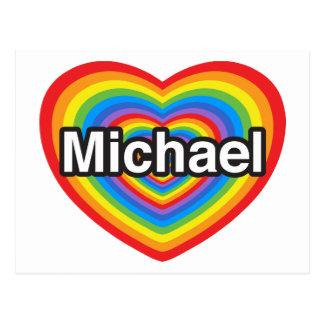私はミハエルを愛します。 私はミハエル愛します。 ハート ポストカード