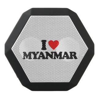 私はミャンマーを愛します ブラックBluetoothスピーカー