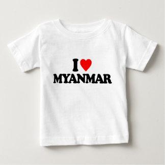 私はミャンマーを愛します ベビーTシャツ
