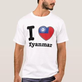 私はミャンマーを愛します Tシャツ