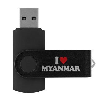 私はミャンマーを愛します USBフラッシュドライブ