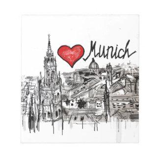 私はミュンヘンを愛します ノートパッド