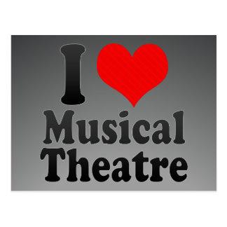 私はミュージカルシアターを愛します ポストカード