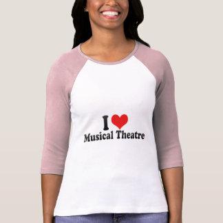 私はミュージカルシアターを愛します Tシャツ