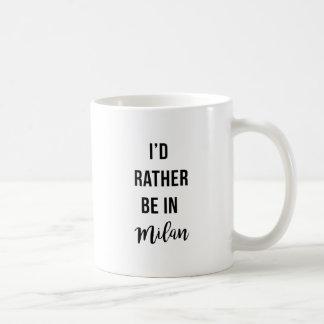 私はミラノにむしろいます コーヒーマグカップ