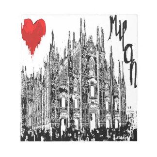 私はミラノを愛します ノートパッド