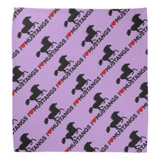 私はムスタング-バンダナ-を紫色愛します バンダナ