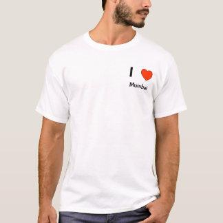私はムンバイのロゴのTシャツを愛します Tシャツ