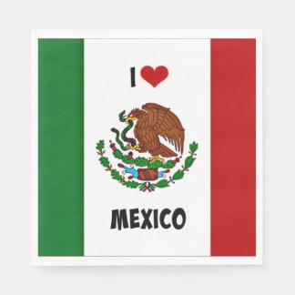 私はメキシコのメキシコ旗を愛します スタンダードランチョンナプキン