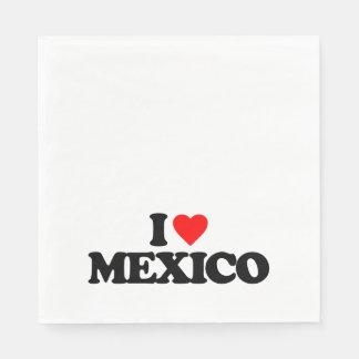 私はメキシコを愛します スタンダードランチョンナプキン