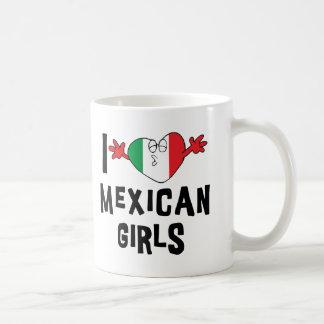 私はメキシコ女の子を愛します コーヒーマグカップ