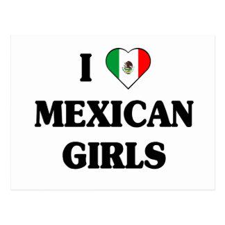私はメキシコ女の子を愛します ポストカード