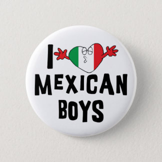 私はメキシコ男の子を愛します 5.7CM 丸型バッジ