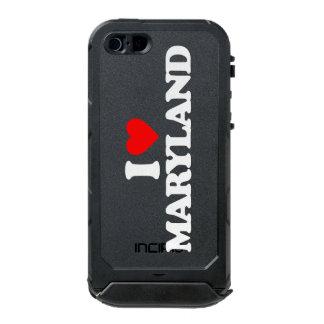 私はメリーランドを愛します ウォータープルーフiPhone SE/5/5sケース