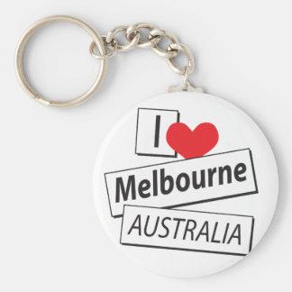 私はメルボルンオーストラリアを愛します キーホルダー