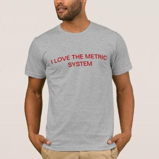 私はメートル法の軍隊のTシャツを愛します Tシャツ