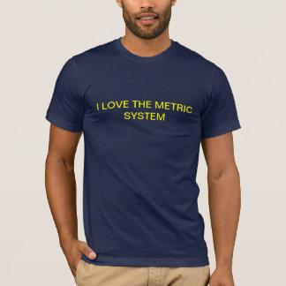 私はメートル法の黄色を愛します Tシャツ