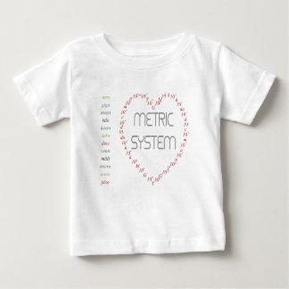 私はメートル法を愛します ベビーTシャツ