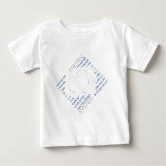 私はメートル法2を愛します ベビーTシャツ