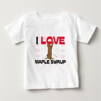 私はメープルシロップを愛します ベビーTシャツ