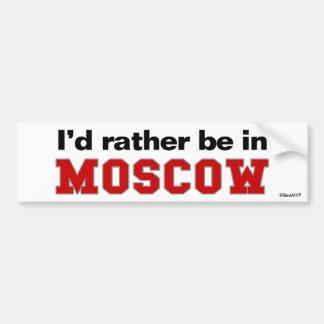 私はモスクワにむしろいます バンパーステッカー