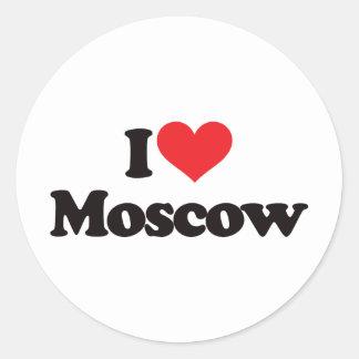 私はモスクワを愛します ラウンドシール