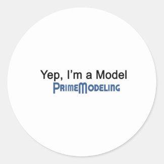 私はモデル主な模倣です ラウンドシール